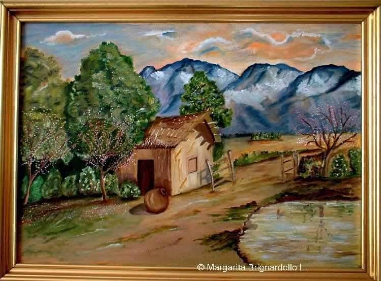 Oleos de paisajes - Paisajes de casas ...